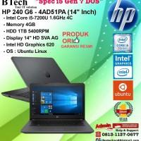 "HP 240 G6 - 4AD51PA (14""Inch) Core i5-7200U/4GB/1TB/DOS/1YEAR"
