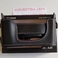 Leather Case FujiFilm X-M1 Original Asli kulit