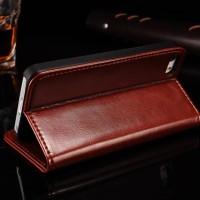 Leather Case Flip Cover Xiaomi Mi 8 Lite LUXURY Casing Dompet Kulit