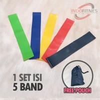 Loop Exercise Band Set - Mini Resistance Karet Yoga Fitness Gym