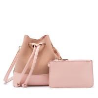 tas serut pink 2in1 import selempang shoulder bag 20087 fashion
