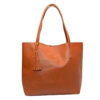 Murah BEAUTY GUM Tote Bag Kulit Alice High Quality - Brown High Class