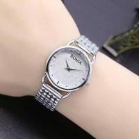 jam tangan wanita merica bonia rantai / jtr 397 gold - Hitam