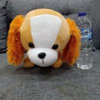 Boneka timezone sedang 400gr doggy anjing coklat untuk kado hadiah