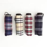Payung lipat 5 kotak kotak / kecil / mini / tas / ringan - 503