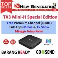 Android Tv Box TX3 mini H Ram 2GB Rom 16GB Android 7.1 Full Applikasi