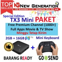 Paket Android Tv Box TANIX TX3 mini H RAM 2GB ROM 16GB + Mini Keyboard