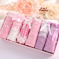 6 in 1 Panties UNGU PINK (Set celana dalam, 1 kotak isi 6 pcs panties)