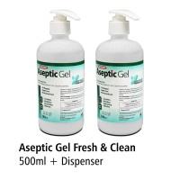 Aseptic Gel 500ml + Dispenser Fresh n CleanOneMed