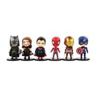 Action Figure Pajangan Marvel DC Avengers Superman Batman Thor Ironman
