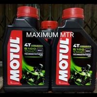 OLI MESIN MOTUL 5100 ESTER(4T/1L)10W-40/Technosynthese/100% Orisinil