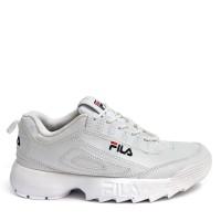 Sepatu Fila Disruptos Sepatu Casual Wanita Running Joging Senam Murah - Putih, 36