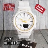 PRODUK TERLARIS !! Jam tangan Wanita & anak Baby-G Shock BGS-100 Putih
