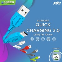 Hippo ROU Kabel Data Charger Micro USB 100 CM Support Quick Charge 3.0