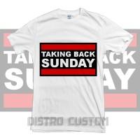Kaos Taking Back Sunday Logo 2 - Original Gildan T shirt