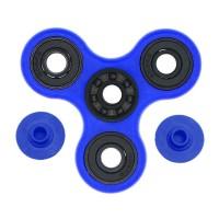 Fidget Spinner Hybrid Black Ceramic / Keramik Hitam Premium - Biru
