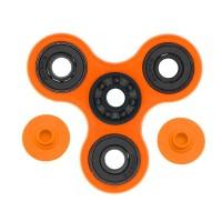 Fidget Spinner Hybrid Black Ceramic / Keramik Hitam Premium - Orange