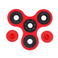 Fidget Spinner Hybrid Black Ceramic / Keramik Hitam Premium - Merah