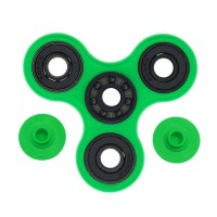 Fidget Spinner Hybrid Black Ceramic / Keramik Hitam Premium - Hijau