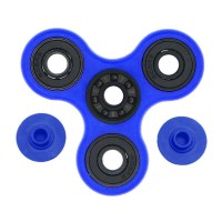 Fidget Spinner Keramik / Ceramic Ball Bearing Tri-Spinner Toy - Biru