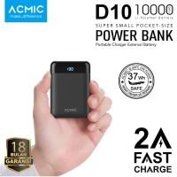 ACMIC D10 10000mAh Mini Power Bank (Digital Display + 2A Fast Charge) - Putih
