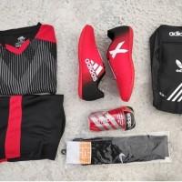 ( PAKET KOMPLIT ) Sepatu Futsal Adidas X paket komplit