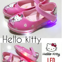 Sepatu anak perempuan HELLO KITTY FLAT SHOES with LED LIGHT