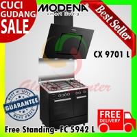 Paket Kompor Freestanding Cooker Modena CARRARA FC 5942 L dan CX 9701L