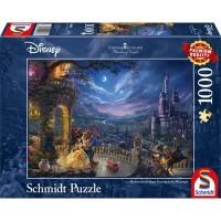 Disney Parks Thomas Kinkade Magic Kingdom Fireworks 1000 Piece Puzzle NEW