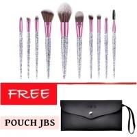 JBS New York makeup brush 10Pcs glitter diamond brush K060+Dompet Kuas