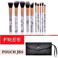 JBS New York Make up brush 10pcs kuas contour keramik K042+Dompet Kuas