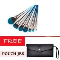 JBS New York 7 Pcs Diamond Glitter brush set K 045 + Dompet Kuas