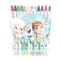 Crayon Putar Isi 12 Karakter Frozen Mewarnai Anak Perempuan