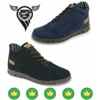 Jual ORIGINAL DISTRO - Sepatu Pria Sneakers Model Boots Gaya Retro Classic Murah