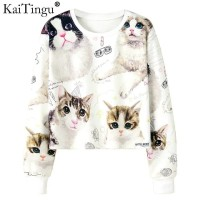 Crop Cat/Sweater Crop Babyterry/Sweater Cat/Blouse/Atasan/Crop Top