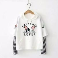 Frenchie Lover/Sweater/Atasan/Blouse Babyterry Salur/Atasan Salur