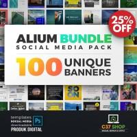ALIUM BUNDLE - SOCIAL MEDIA PACK | Facebook Instagram Twitter Template