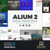 ALIUM 2 - SOCIAL MEDIA PACK | Facebook Instagram Twitter Template
