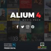 ALIUM 4 - SOCIAL MEDIA PACK | Facebook Instagram Twitter Template