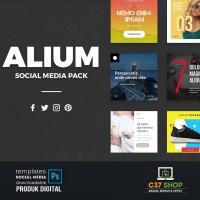 ALIUM - SOCIAL MEDIA PACK | Facebook Instagram Twitter Template