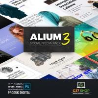 ALIUM 3 - SOCIAL MEDIA PACK | Facebook Instagram Twitter Template