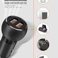 LDNIO C503Q CAR CHARGER TRAVEL MOBIL 2 PORT USB ORIGINAL QUALCOMM 3.0