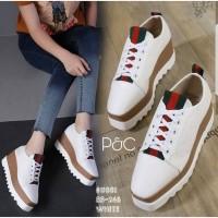 Sepatu Wedges Gucci Tinggi 7cm Wanita Casual Putih / Sneaker Korea