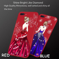Case Oppo F1s/F1s Plus Girl Gown Dress Softcase Casing Gaun Diamond -