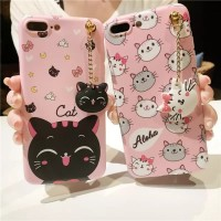 Case Samsung J2 Prime Softcase 3D Cat Kucing Hello Kitty Aloha Pink