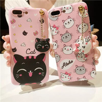 Case Vivo Y65 Softcase 3D Cat Kucing Hello Kitty Aloha Pink Cover