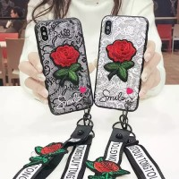 Luxury 3D Relief Flower Rose/Bunga Mawar Merah Case Oppo A37 A37f Neo9