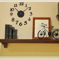 JAM DINDING MODERN 3D FRAMELESS LARGE WALL CLOCK DIY DEKORASI DINDING aef6e5eae6