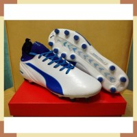 Sepatu Bola - Soccer Puma evoTOUCH Pro White True Blue - FG