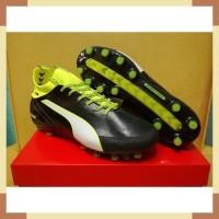 Sepatu Bola - Soccer Puma evoTOUCH Pro Black Safety Yellow - FG